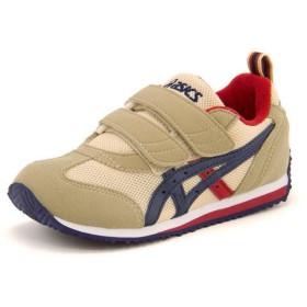 キッズ asics SUKU2(アシックス スクスク) アイダホ MINI 3(アイダホミニ3) TUM186 0550 ベージュ/ネイビーブルー運動靴 スニーカー ボーイズ