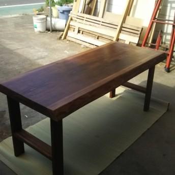 ダイニングテーブル テーブル ウォールナット ウォールナット風 一枚板