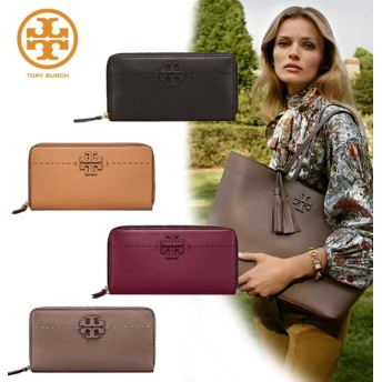 Qoo10クーポン使えます♪ TORY BURCH MCGRAW ZIP CONTINENTAL WALLET