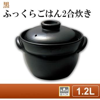 日本製 ごはん鍋 ふっくらごはん2合炊き 黒 2087-4168