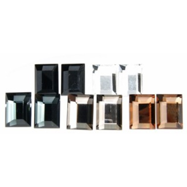 カットガラスの長方形ピアス 渋谷や銀座で大人気ブランド napa メール便 送料無料 秋冬