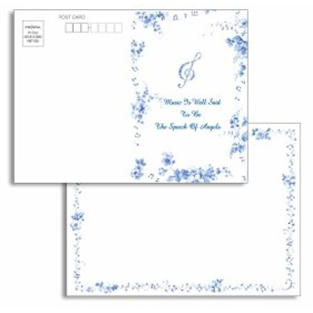 ポストレター MUSIC HMT-26 フロンティア はがき料金で送れる 葉書手紙 シークレットレター デザイン おしゃれ 大人