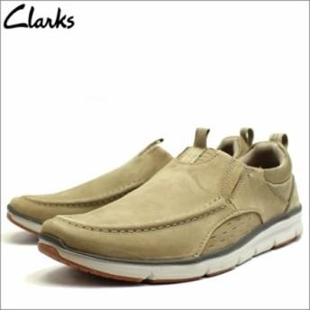 あす着 クラークス Clarks 靴 革靴 ローファー カジュアル シューズ スリッポン 本革 レザー サンド ヌバック メンズ cl26123594 新品