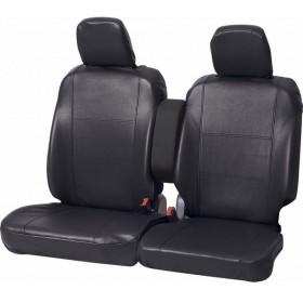 ボンフォーム カーインテリア グランドレザー 軽自動車用シートカバー フロントベンチシート用2枚 ブラック