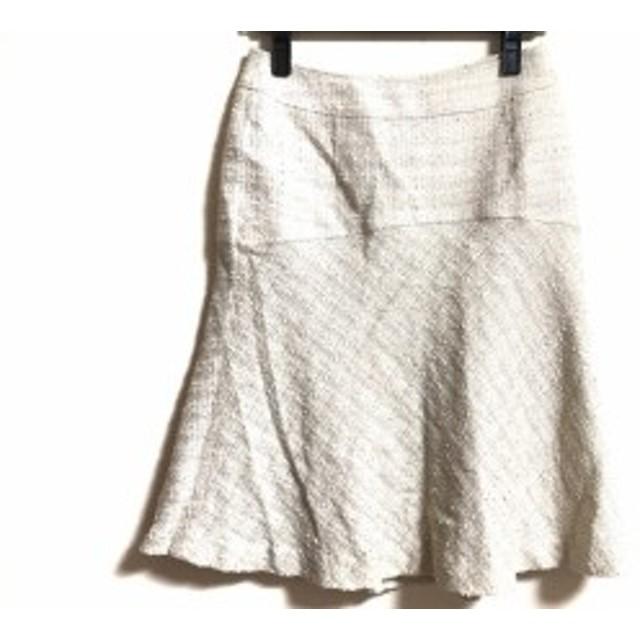 マテリア MATERIA スカート サイズ38 M レディース ベージュ ツイード/ラメ【中古】