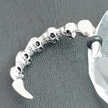 ボディピアス メンズ サージカルステンレス製 頭蓋骨を並べたハーフリング 12ゲージ 10ゲージ 12Ga 10Ga 1個売り メール便 送料無料 金属