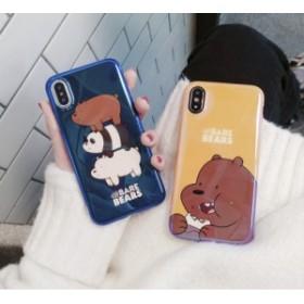 スマホカバーiPhone8/iPhone8Plus/iPhone7/iPhone7 Plus/iPhone6/iPhone6 Plus/ケースかわいクマ柄スマホケースtls05
