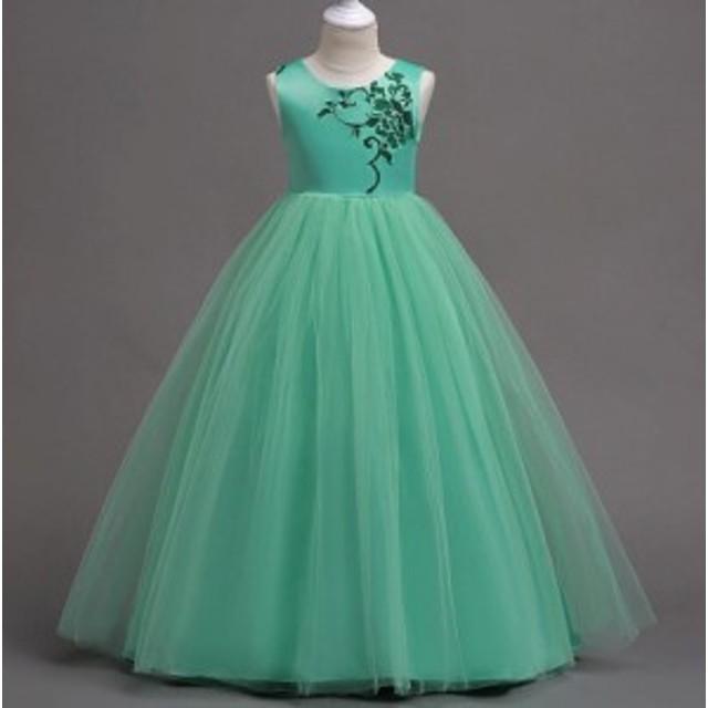 6b21ffa0dfcf8 新品ピアノ発表会子供ドレスロング高級結婚式輸入セールフォーマル 七五三 ジュニアドレス