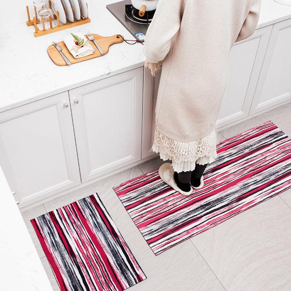 時尚創意地墊194 廚房浴室衛生間臥室床邊門廳 吸水長條防滑地毯(40*60cm 1件裝)