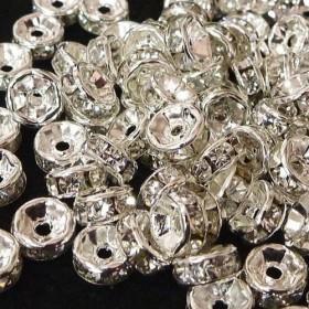 アクセサリーパーツ 平ロンデル 古代銀 約6mm 【約50個入り】 6000034