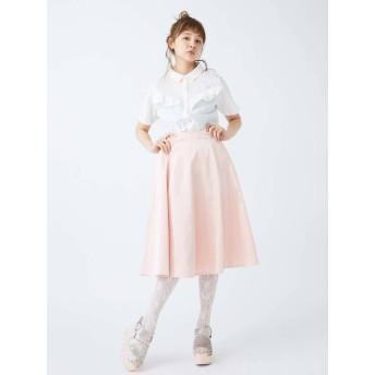 [merry jenny]サテンボンディングフレアスカート