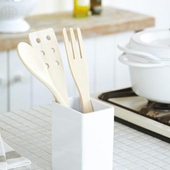 スクウェア形状の安定感のあるキッチンツールスタンド フライ返しなどの調理用具の収納に最適 メール便 定型外郵便不可 プレゼント 秋冬