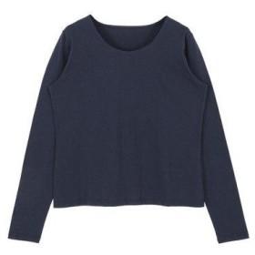 ティティベイト titivate シンプルロングTシャツ (ネイビー)