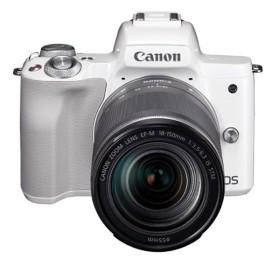キヤノン 小型一眼カメラ 1本レンズキット(高倍率ズーム) 4K EOS(イオス) EOS KISS M 18-150ISSTMレンズキット(WH) ホワイト