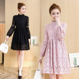 総レースミニワンピース ドレス フォーマル《ブラック/ベージュ/ピンク/ホワイト》S/M/L/XL/XXL