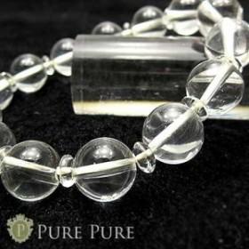 水晶 ブレスレット 天然石 パワーストーン ブレスレット ヒマラヤ水晶 クォーツ クリスタル ブレス