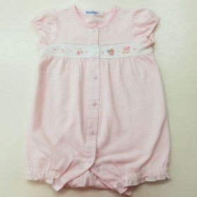 【中古】FAMILIAR ファミリア ロンパース ピンク サイズ70