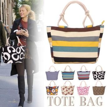 トートバッグ 大容量 マザーズバッグ ママバッグ 多機能バッグ キャンバス バッグ 花柄 ボーダー柄 鞄 レディースバッグ