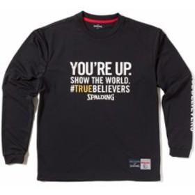 バスケットロング Tシャツ ウェア   スポルディング Spalding L/S Tシャツ TRUE BELIEVERS Bl