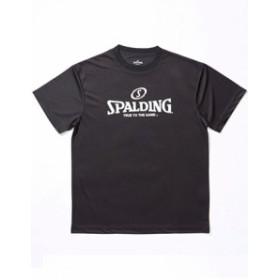 バスケットTシャツ ウェア  スポルディング ロゴ  スポルディング Spalding Spal Logo Tee Blk