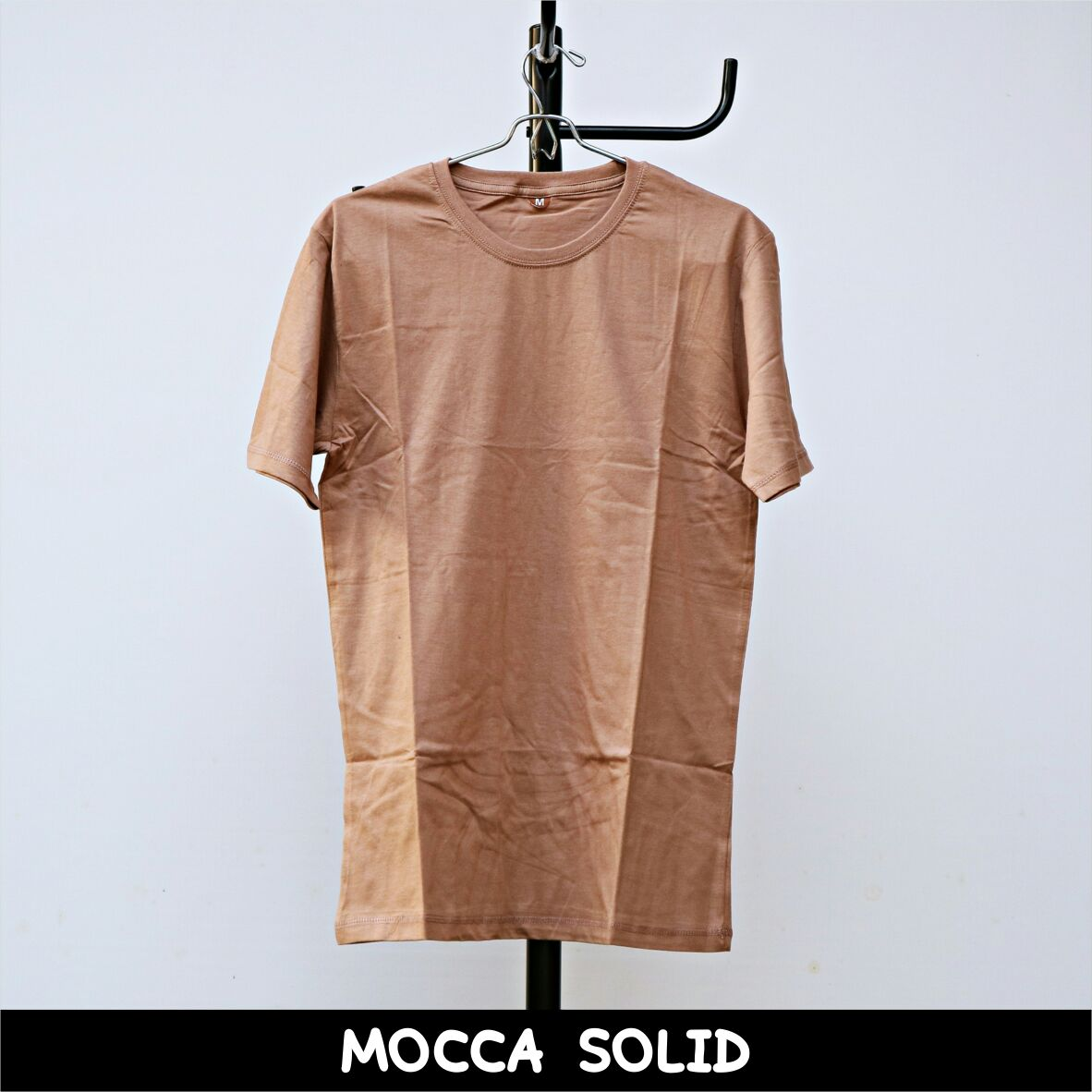 Kaos Polos Premium Shop Line Maroon Solid Mocca