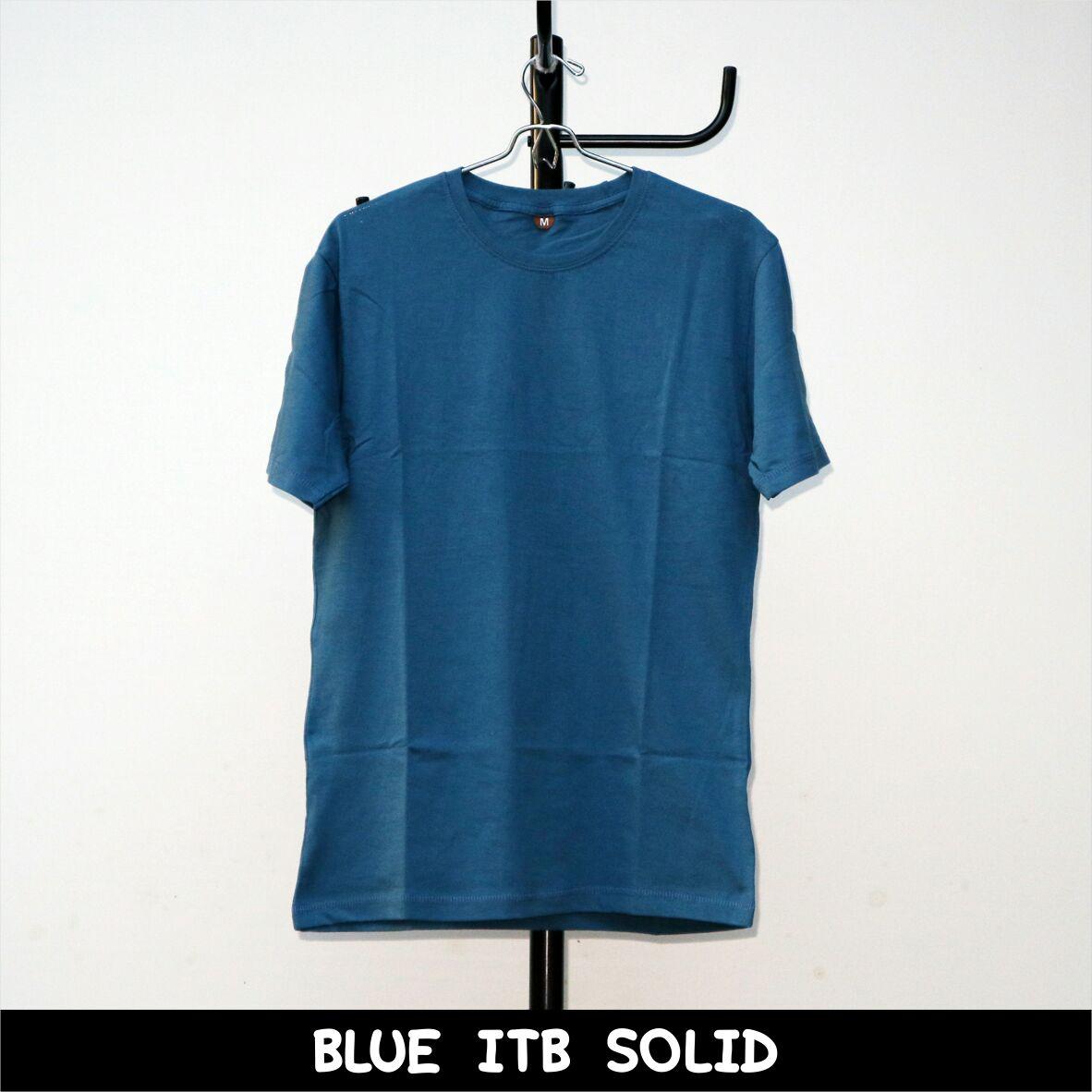 Kaos Polos Premium Shop Line Maroon Triton Blue Itb