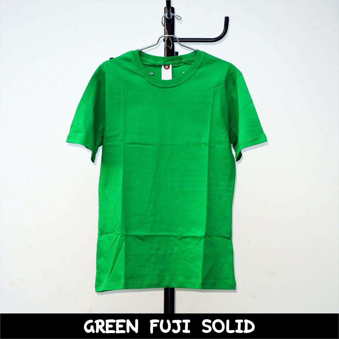 Kaos Polos Premium Shop Line Teal Solid Green Fuji