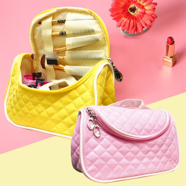 化妝包【HPN002】糖果菱格手提化妝包 購物 折疊袋 手提袋 包包 零錢包 手拿包 收納女王