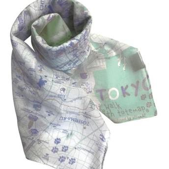大好きな街を身に着ける。 マップスカーフ 東京お散歩猫マップ