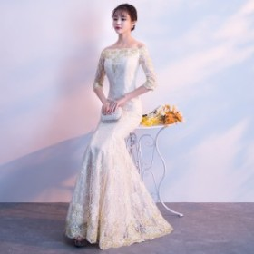 結婚式 ドレス パーティー ロングドレス 二次会ドレス ウェディングドレス お呼ばれドレス 卒業パーティー 成人式 同窓会hs158