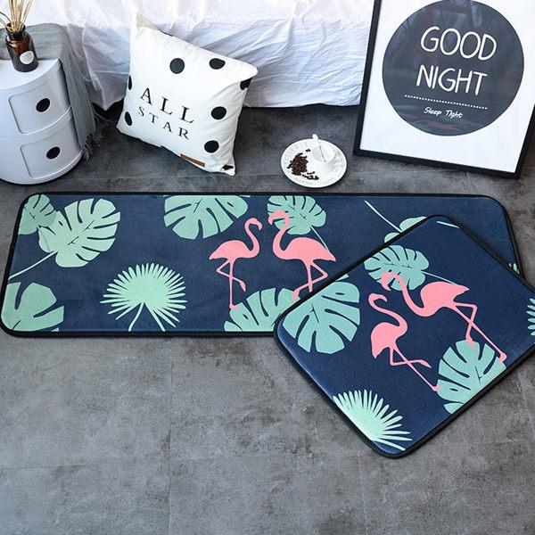 時尚創意地墊202 廚房浴室衛生間臥室床邊門廳 吸水長條防滑地毯(50*150cm 1件裝)