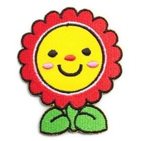 ワッペン アイロン Flower フラワー 花 アップリケ わっぺん アイロンで簡単貼り付け