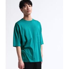 【30%OFF】 ティーケー タケオキクチ 製品染めオーバーサイズTシャツ メンズ グリーン(022) 02(M) 【tk. TAKEO KIKUCHI】 【セール開催中】