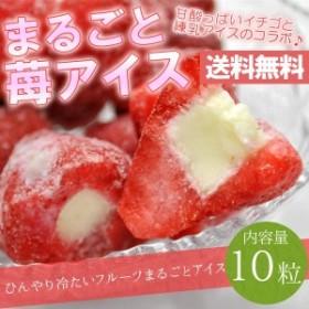 練乳いちごアイス(10粒) まるごと 苺 アイス イチゴ デザート 贈答 ギフト 敬老の日(送料無料)