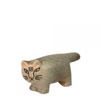 【5%OFFクーポン利用可能】リサ・ラーソン ネコ ふたごの猫 置物 ねこ(リサラーソン)キャットミカ 動物 LisaLarson(Lisa Larson)Cat Mika 1151102 1151103 グレー【クーポンコード:CP34TSW】