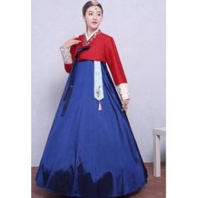 09906b344cc2e 5色 2点セット 韓国ドレス 韓服 宮廷風 チマチョゴリ ステージ ワンピース 朝鮮族