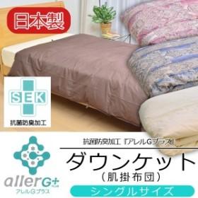日本製 抗菌防臭加工 ダウンケット 肌掛け布団 シングルサイズ