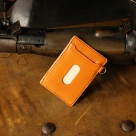 【永久無料保証】革を育てる楽しみ☆ 国内最高峰の栃木レザー キャメル パスケース♪ 定期入れ カードケース