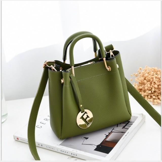 B6822-green Tas Serut Wanita Elegan 2in1 / Tas Branded Import - Tas Batam Fashion Wanita Kekinian: Rp 240.000