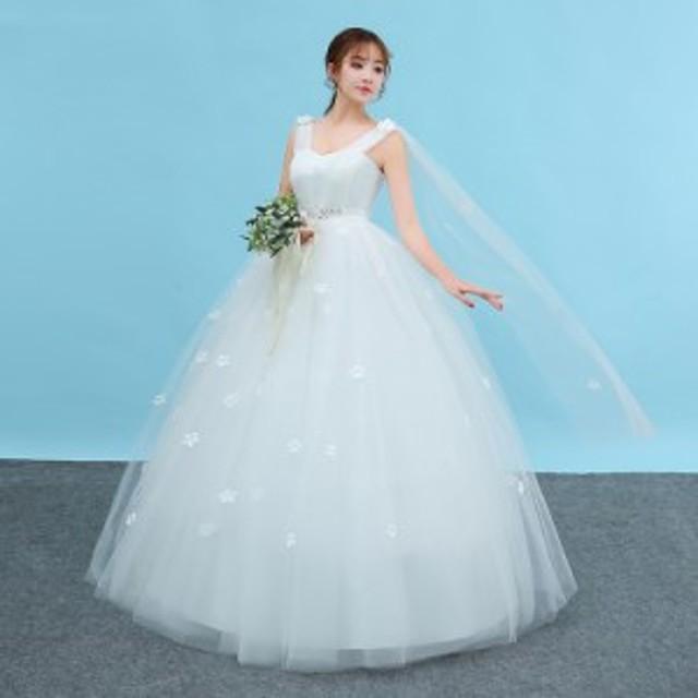 368e57a204826 ウェディングドレス aライン 安い マタニティウエディングドレス 白 二次会 花嫁 パーティードレス 披露宴 結婚式
