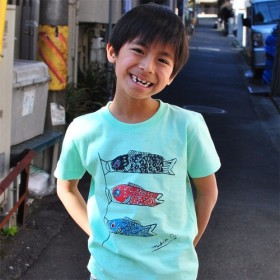 端午の節句☆ こどもの日☆ こいのぼり キッズ 120 130 Tシャツ Melon