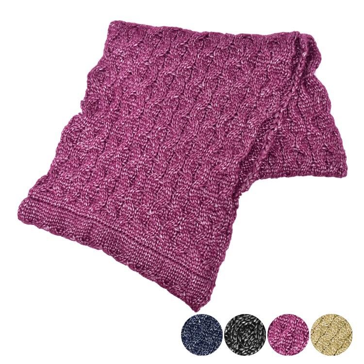 日本圍脖-素色寬版寬鬆針織圍巾-2色-玄衣美舖