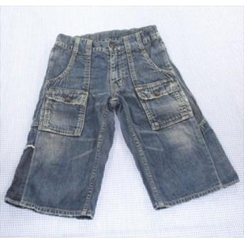 デニムアンドダンガリー DENIM&DUNGAREE デニム ハーフパンツ 半ズボン 120cm 紺系 男の子 女の子 キッズ