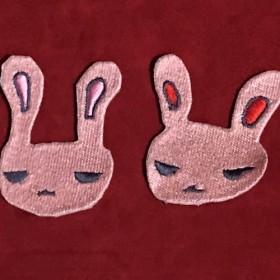 うさぎ 刺繍 ワッペン アクセサリー
