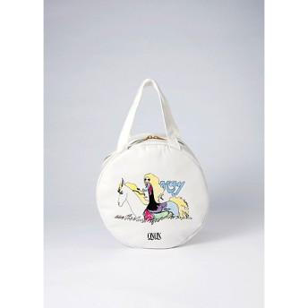 <宇野 亞喜良> QXQX more AQUIRAX ラウンドバッグ(1000095772) 白い馬 【三越・伊勢丹/公式】