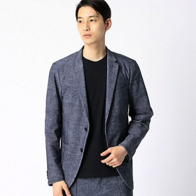 【SALE(伊勢丹)】<COMME CA MEN > モナリザプリントセットアップジャケット(0715JF05) ネービーブルー 【三越・伊勢丹/公式】