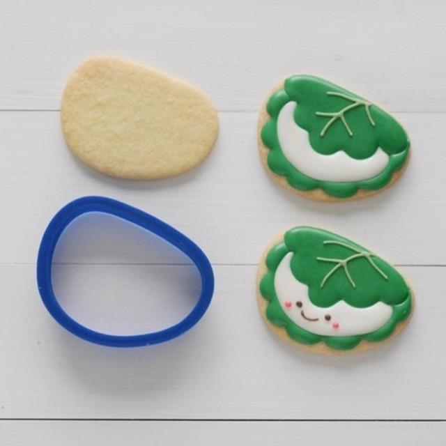 柏餅【6cm】クッキー型・クッキーカッター