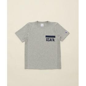 <Champion/チャンピオン> Tシャツ(C3-F371) 073・OG×ネイビー 【三越・伊勢丹/公式】