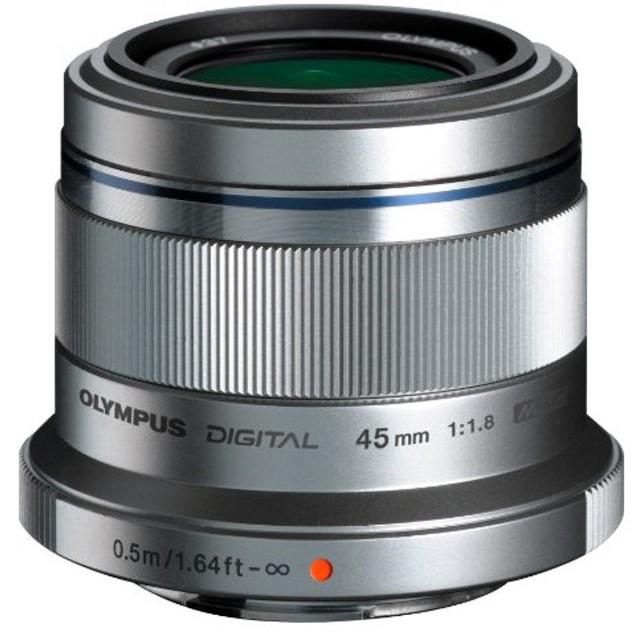 OLYMPUS M.ZUIKO DIGITAL 45mm F1.8 シルバー [単焦点中望遠レンズ (45mm F1.8) マイクロフォーサーズ]