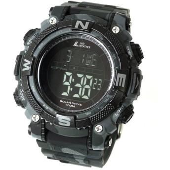 LAD WEATHER(ラドウェザー) SOLAR MASTER(ソーラーマスター) パワーソーラー搭載腕時計 lad039cmbk